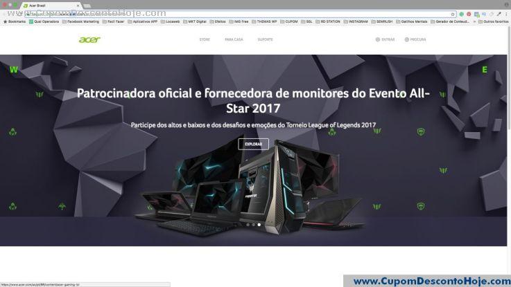 Loja Virtual - Cupom Desconto Acer