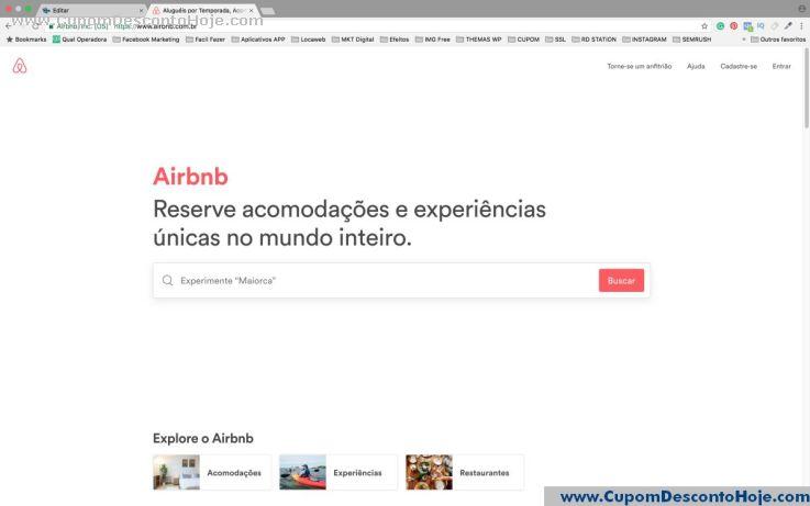 Loja Virtual - Cupom Desconto Airbnb