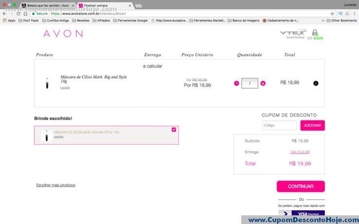 CheckOut da Loja Virtual Avon Store