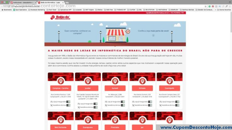 CheckOut da Loja Virtual Balão da Informatica