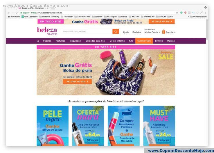 Loja Virtual  da Loja Beleza na Web