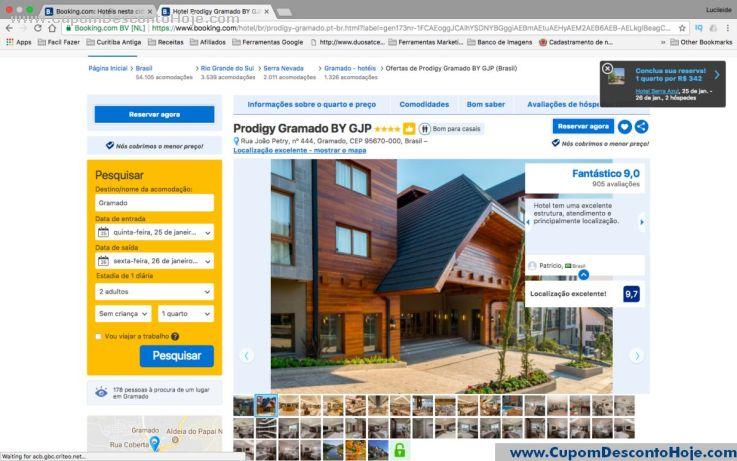 CheckOut da Loja Virtual - Cupom Desconto Booking