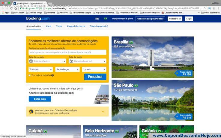Loja Virtual - Cupom Desconto Booking