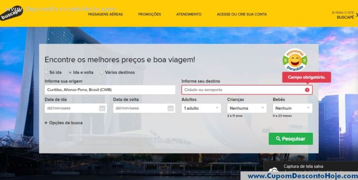 Loja Virtual  da Loja Buscape Viagens