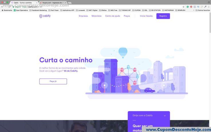 Loja Virtual - Cupom Desconto Cabify