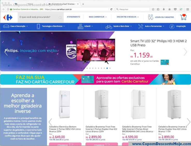 Loja Virtual - Cupom Desconto Carrefour