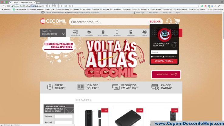Loja Virtual - Cupom Desconto Cecomil