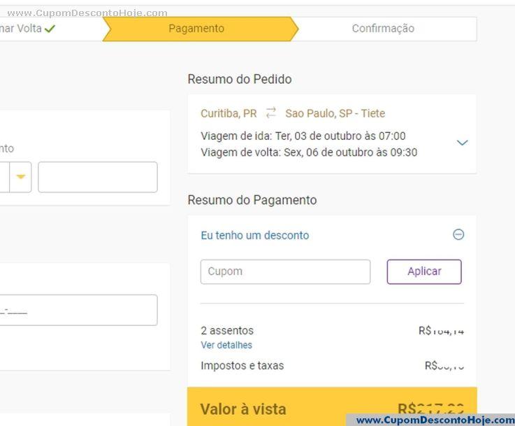 Cupom Desconto da Loja Virtual Click Bus