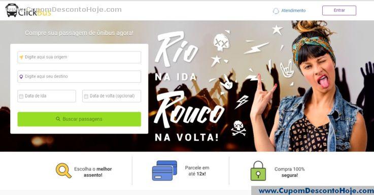 Loja Virtual - Cupom Desconto ClickBus