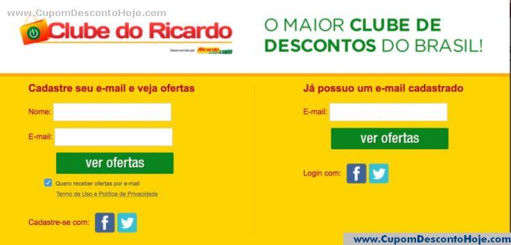 Cupom Desconto da Loja Virtual Clube do Ricardo