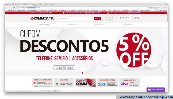 Loja Virtual - Cupom Desconto Commcenter