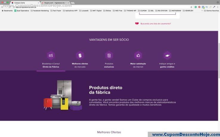 Cupom Desconto da Loja Virtual Compra Certa