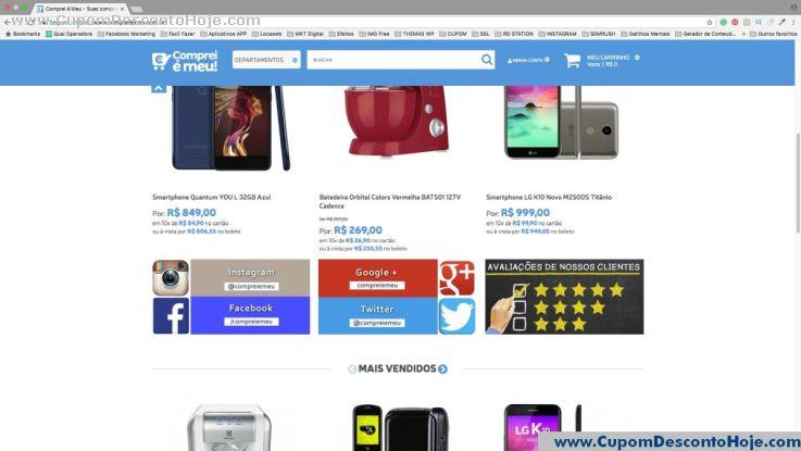 Cupom Desconto da Loja Virtual Comprei E Meu