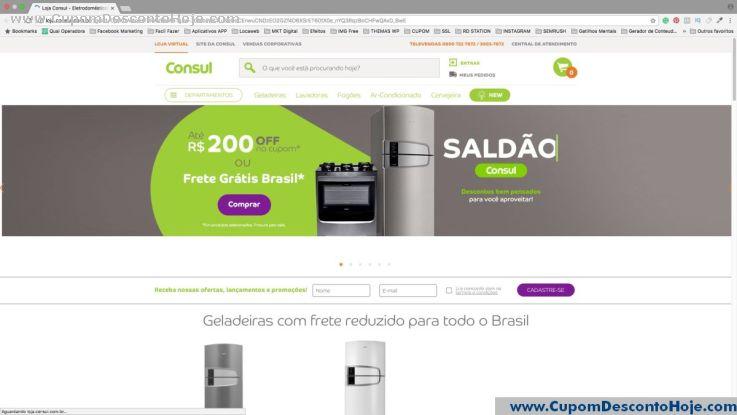 Loja Virtual - Cupom Desconto Consul