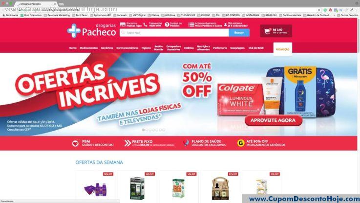 Cupom Desconto da Loja Virtual Drogarias Pacheco