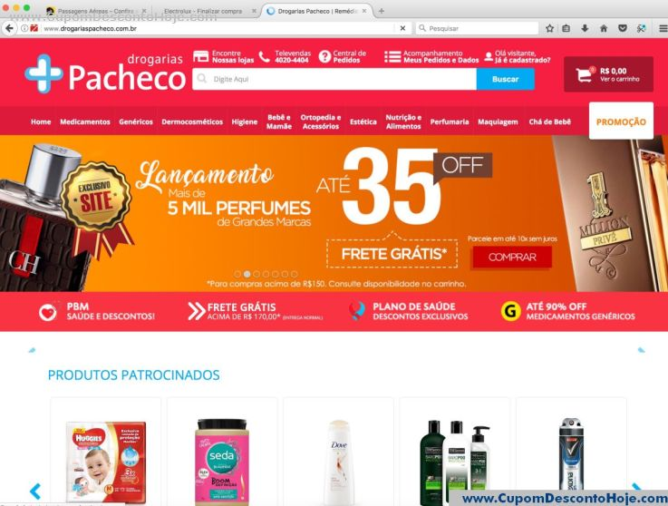Loja Virtual - Cupom Desconto Drogarias Pacheco