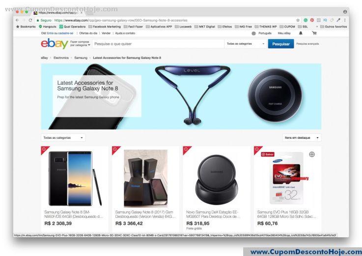 Loja Virtual - Cupom Desconto Ebay