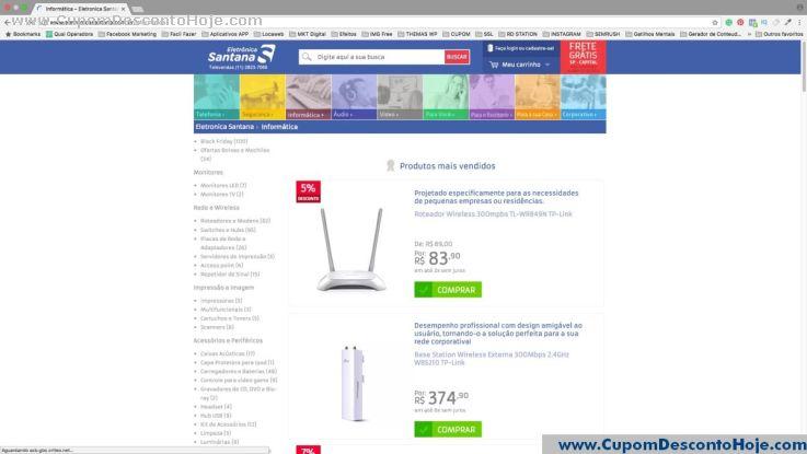 CheckOut da Loja Virtual Eletrônica Santana