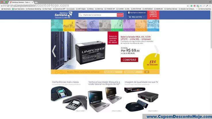 Loja Virtual  da Loja Eletrônica Santana