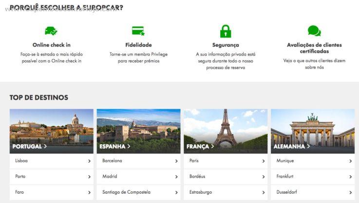 CheckOut da Loja Virtual - Cupom Desconto Europcar