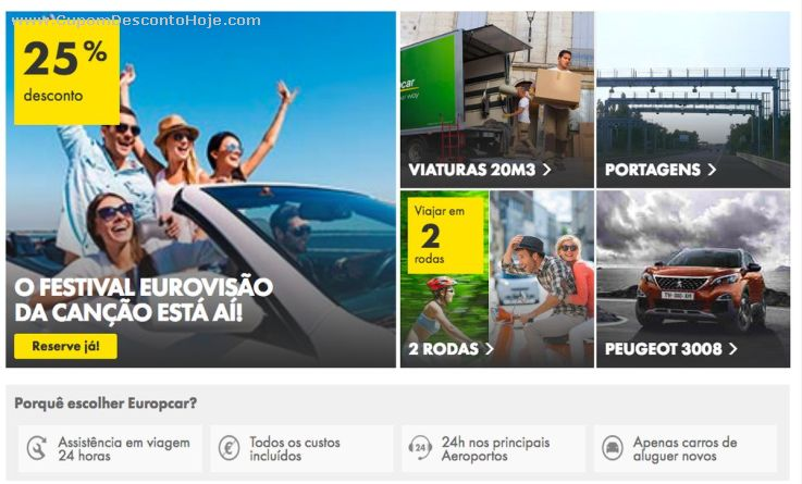 Cupom Desconto Europcar