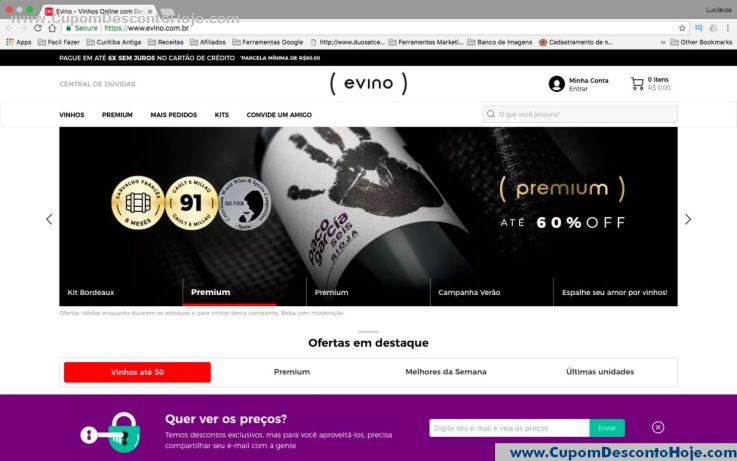 Loja Virtual - Cupom Desconto Evino