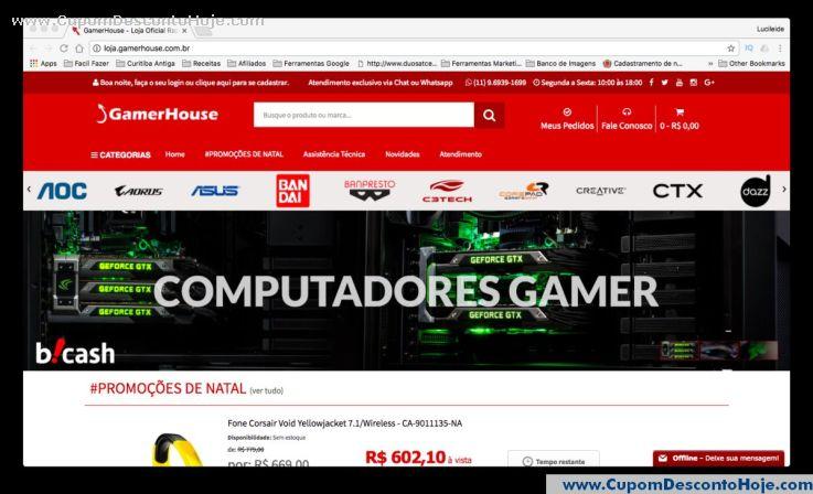 Loja Virtual - Cupom Desconto GamerHouse Shop