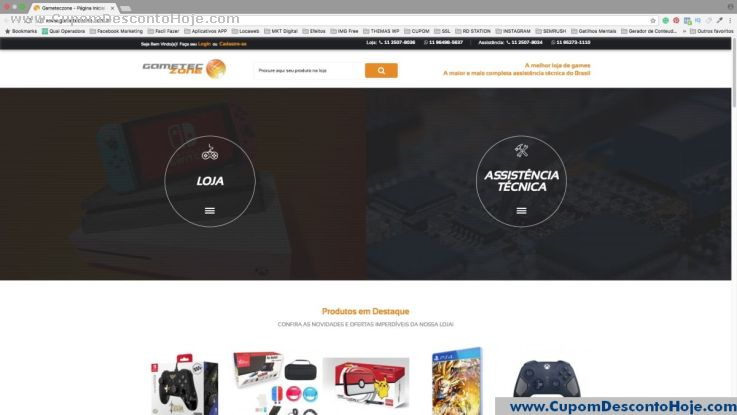 Loja Virtual - Cupom Desconto Gameteczone
