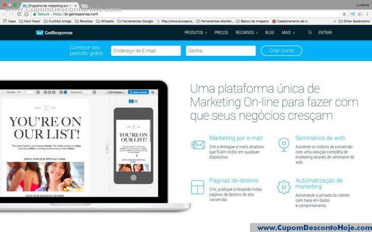 Loja Virtual - Cupom Desconto GetResponse