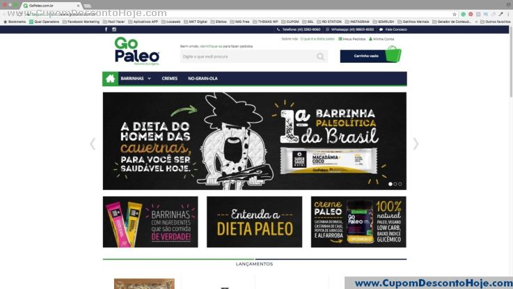 Loja Virtual - Cupom Desconto GO Paleo