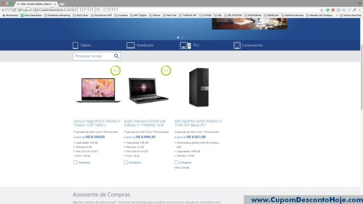 CheckOut da Loja Virtual Intel