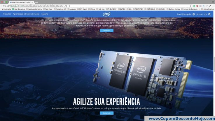 Loja Virtual - Cupom Desconto Intel