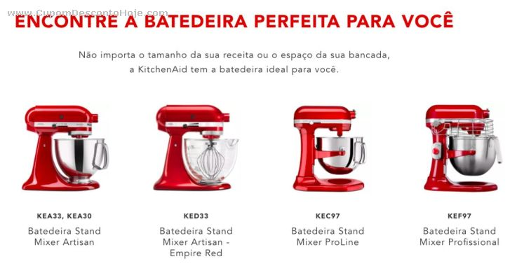 Cupom Desconto kitchenAid