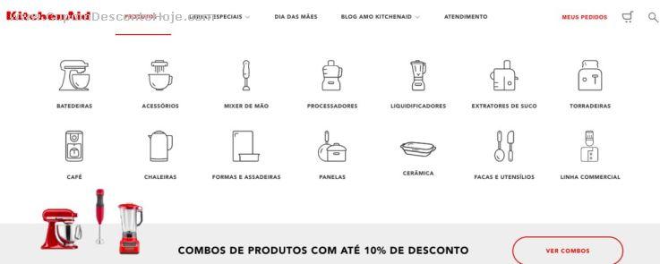 Loja Virtual - Cupom Desconto kitchenAid