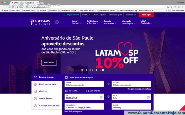 Loja Virtual - Cupom Desconto Latam