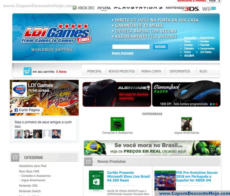 Cupom Desconto LDI Games