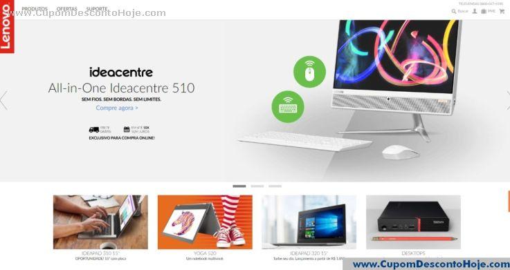 Loja Virtual - Cupom Desconto Lenovo Brasil