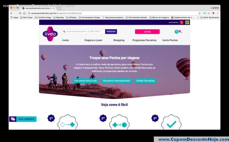 CheckOut da Loja Virtual - Cupom Desconto Livelo