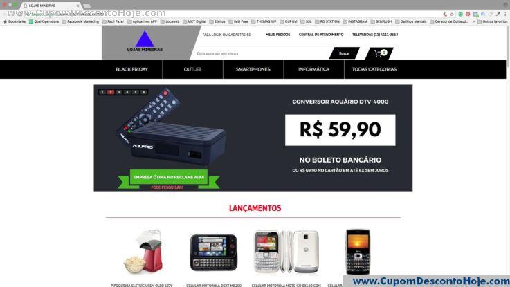 Loja Virtual - Cupom Desconto Lojas Mineiras