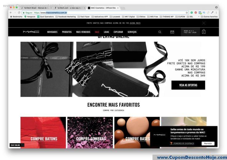 Loja Virtual  da Loja Mac Cosmetics