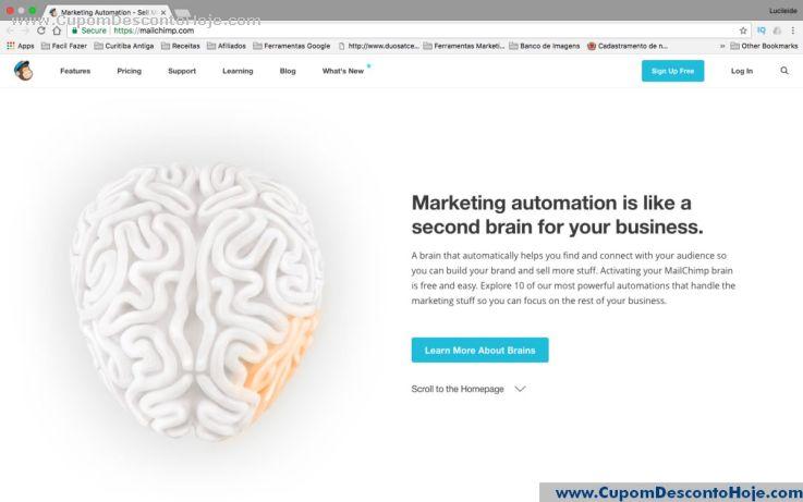 Loja Virtual - Cupom Desconto MailChimp