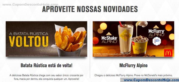 CheckOut da Loja Virtual - Cupom Desconto McDonalds