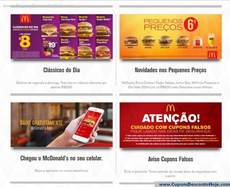 Cupom Desconto da Loja Virtual McDonalds