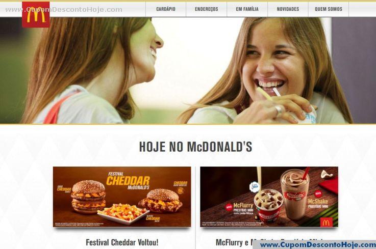Loja Virtual - Cupom Desconto McDonalds