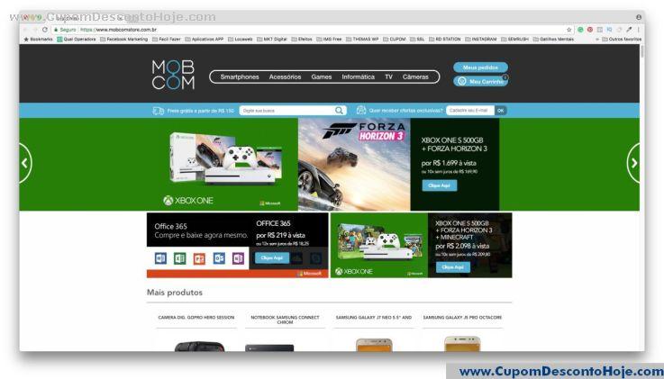 Loja Virtual - Cupom Desconto MobCom Store