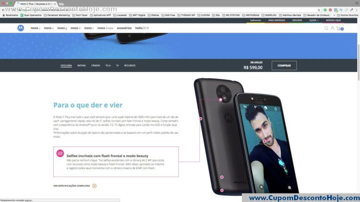Cupom Desconto da Loja Virtual Motorola