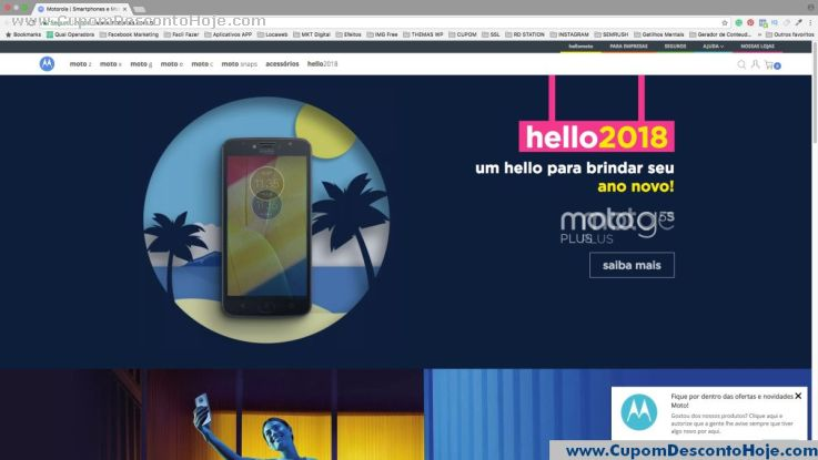 Loja Virtual - Cupom Desconto Motorola