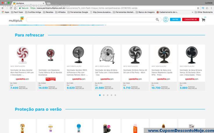 CheckOut da Loja Virtual - Cupom Desconto Multiplus