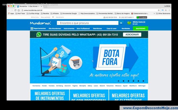 Loja Virtual - Cupom Desconto Mundomax