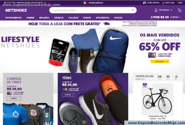 Loja Virtual - Cupom Desconto Netshoes
